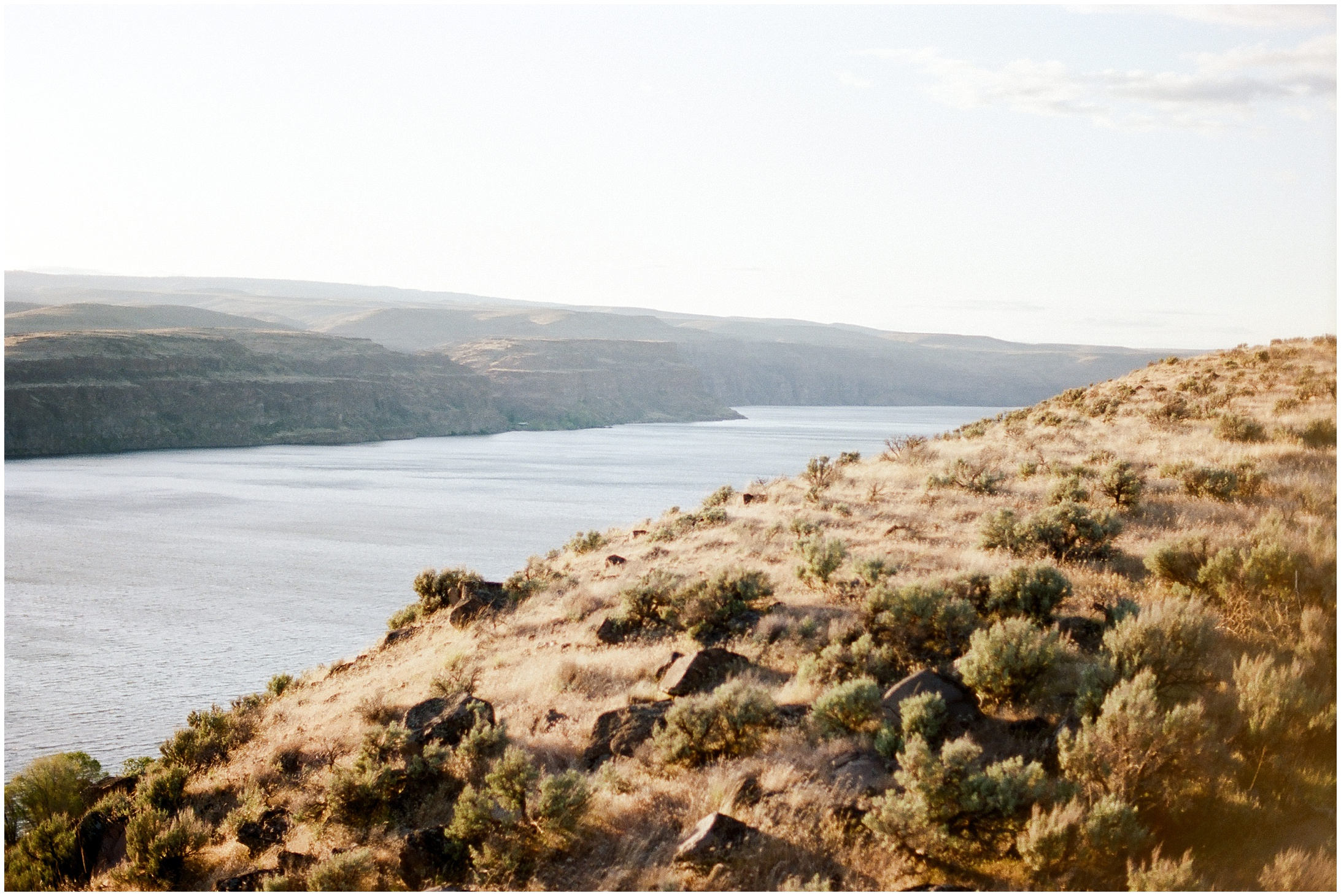 Landscape photo of the Columbia River Gorge from the Frenchman Coulee Recreation Area in Vantage, WA in Forthright Photo