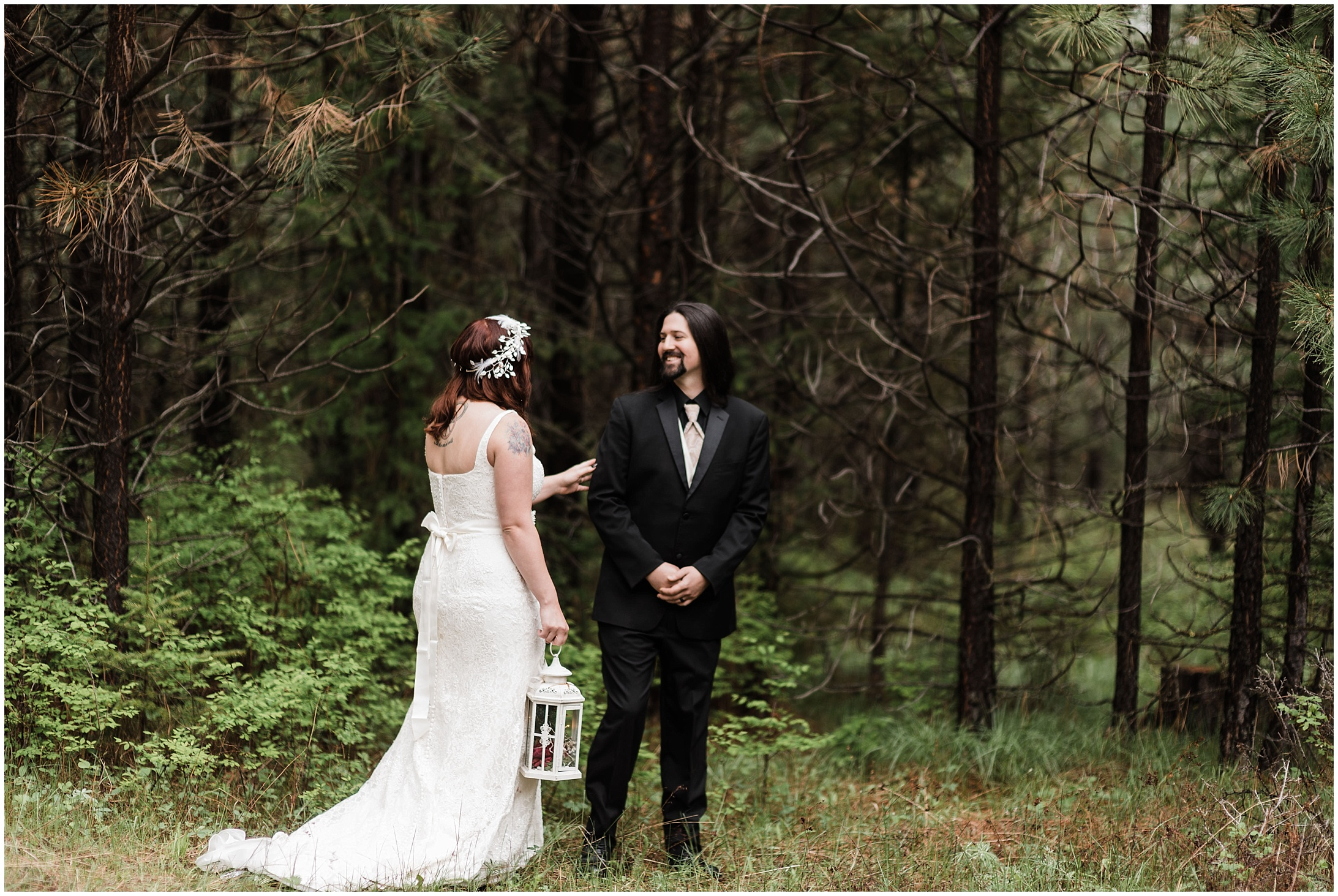 Photo of Daniel & Jennell's first look on a private venue in Omak, WA