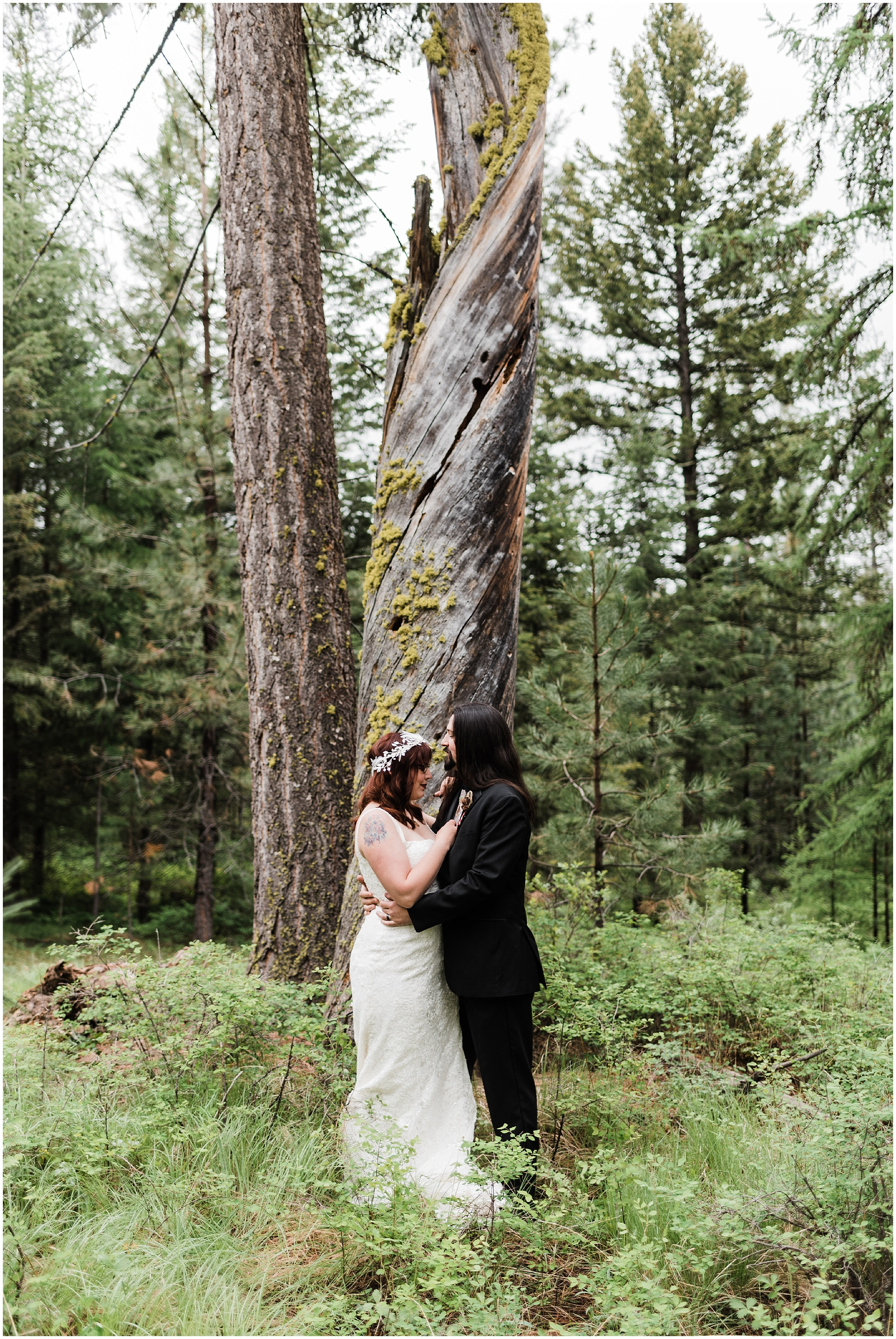 Intimate Forest Wedding in Omak, WA - Forthright Photo