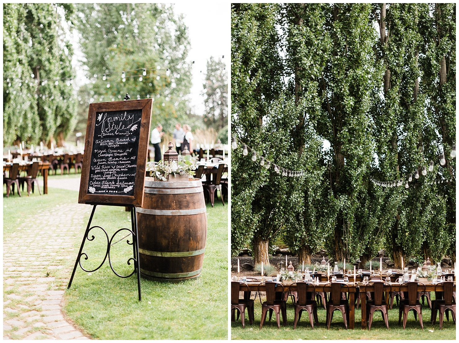 Photos of wedding reception details at Beacon Hill in Spokane, Washington by Forthright Photo