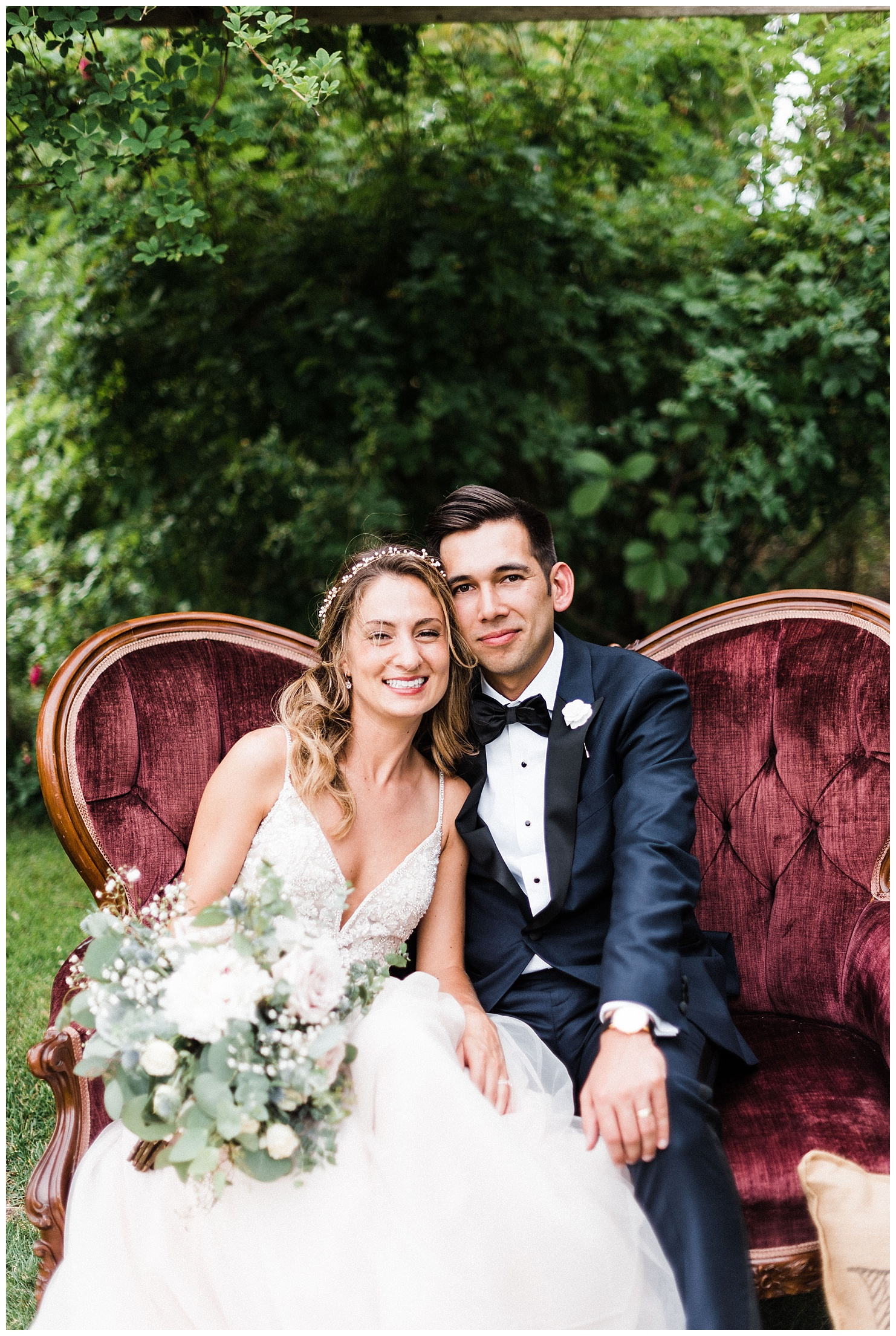 Portrait of Anna & Tony at their Spokane wedding reception at Beacon Hill by Forthright Photo