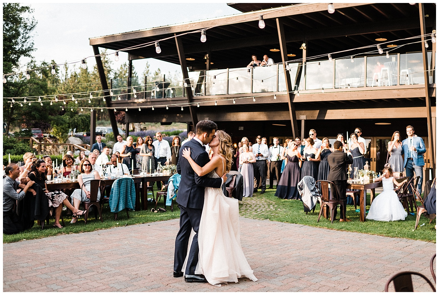 Anna & Tony during their first dance at their Beacon Hill wedding in Spokane WA taken by Forthright Photo