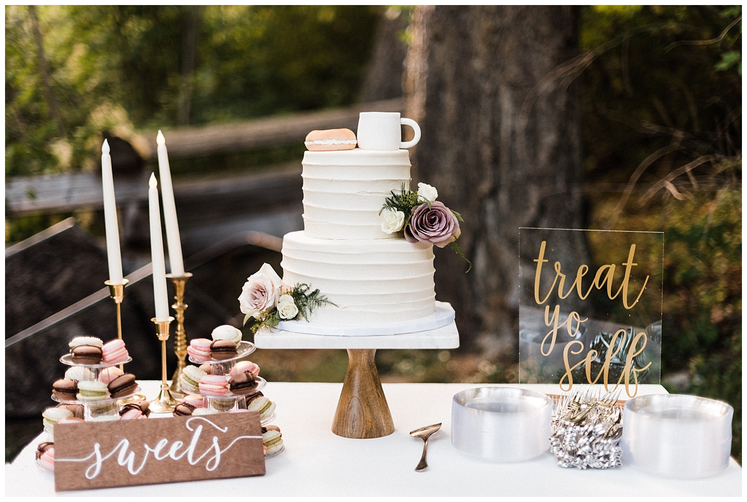 Reception details at a Lake Coeur d'Alene Wedding by Forthright Photo
