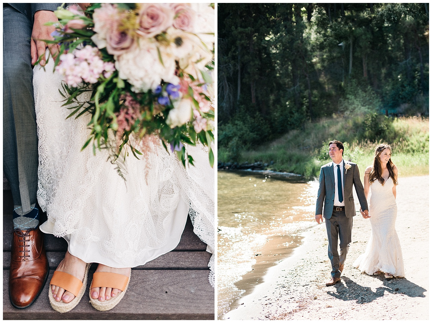 Portraits of a bride & groom at their Lake Coeur d'Alene Wedding by Forthright Photo