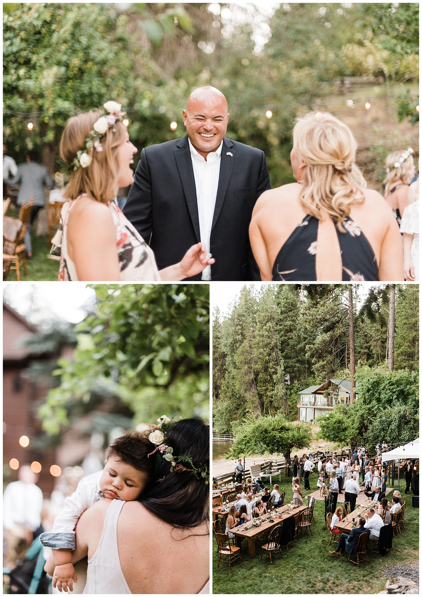Lake Coeur d'Alene Wedding Reception Photos by Forthright Photo