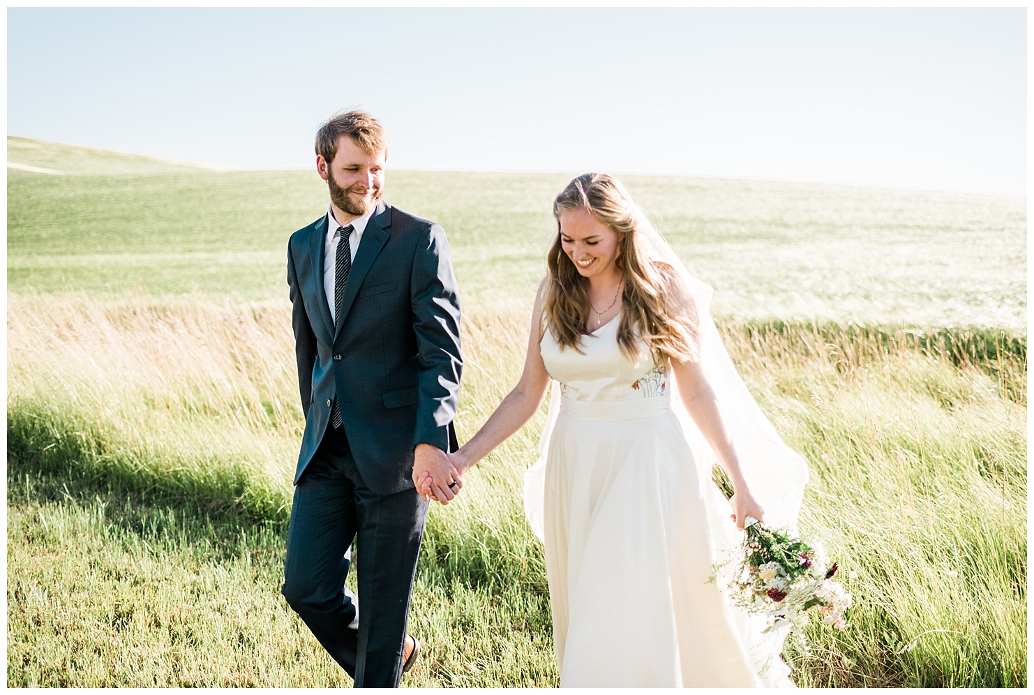 Photo of a Bride & Groom during their bridal session. Taken by Forthright Photo