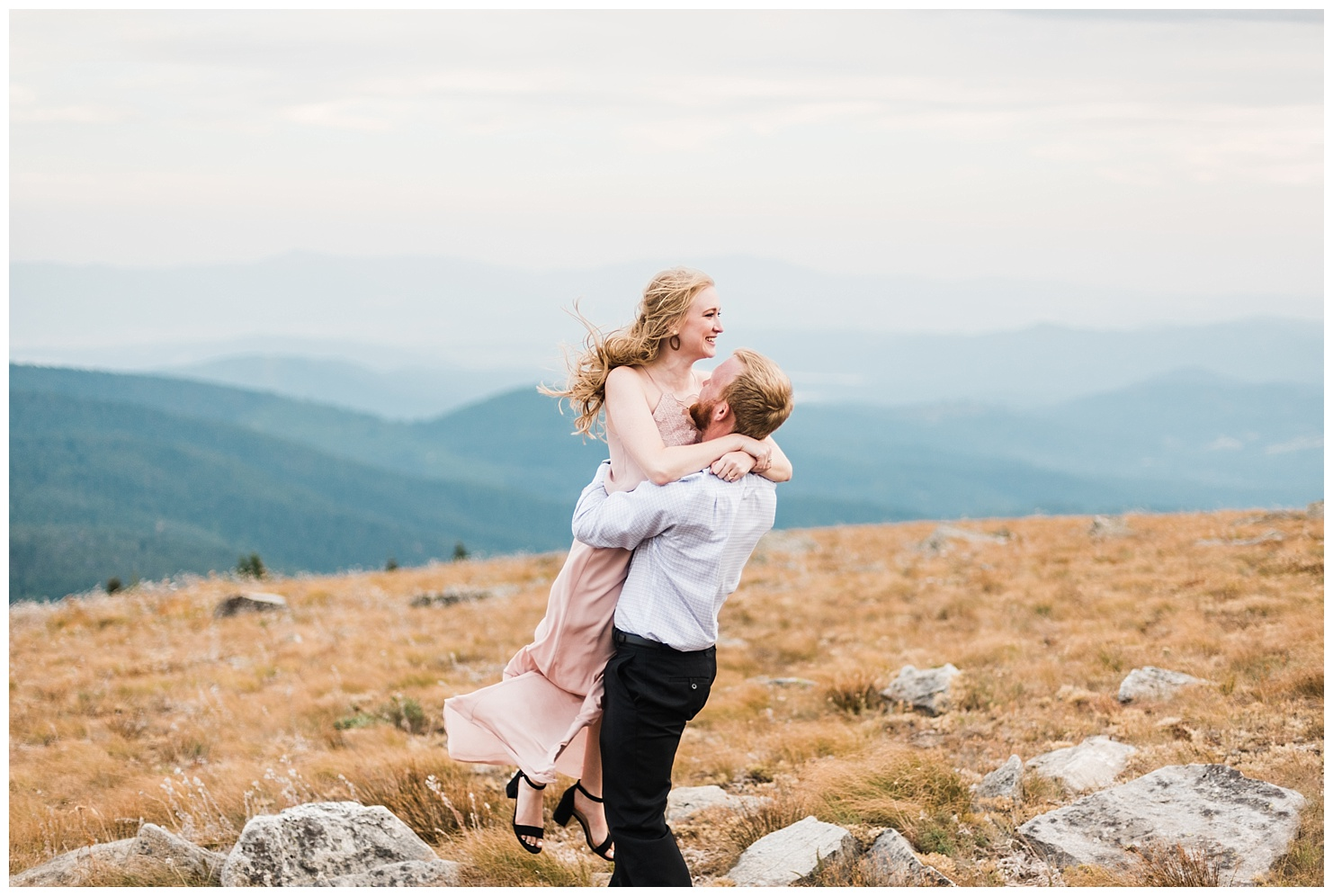 Melissa & Hunter on Mt. Spokane for their engagement session, taken by Forthright Photo