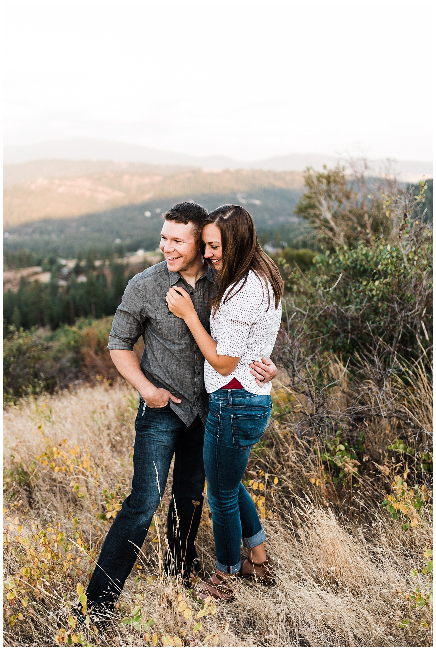 Iller Creek Couples Session in Spokane Washington