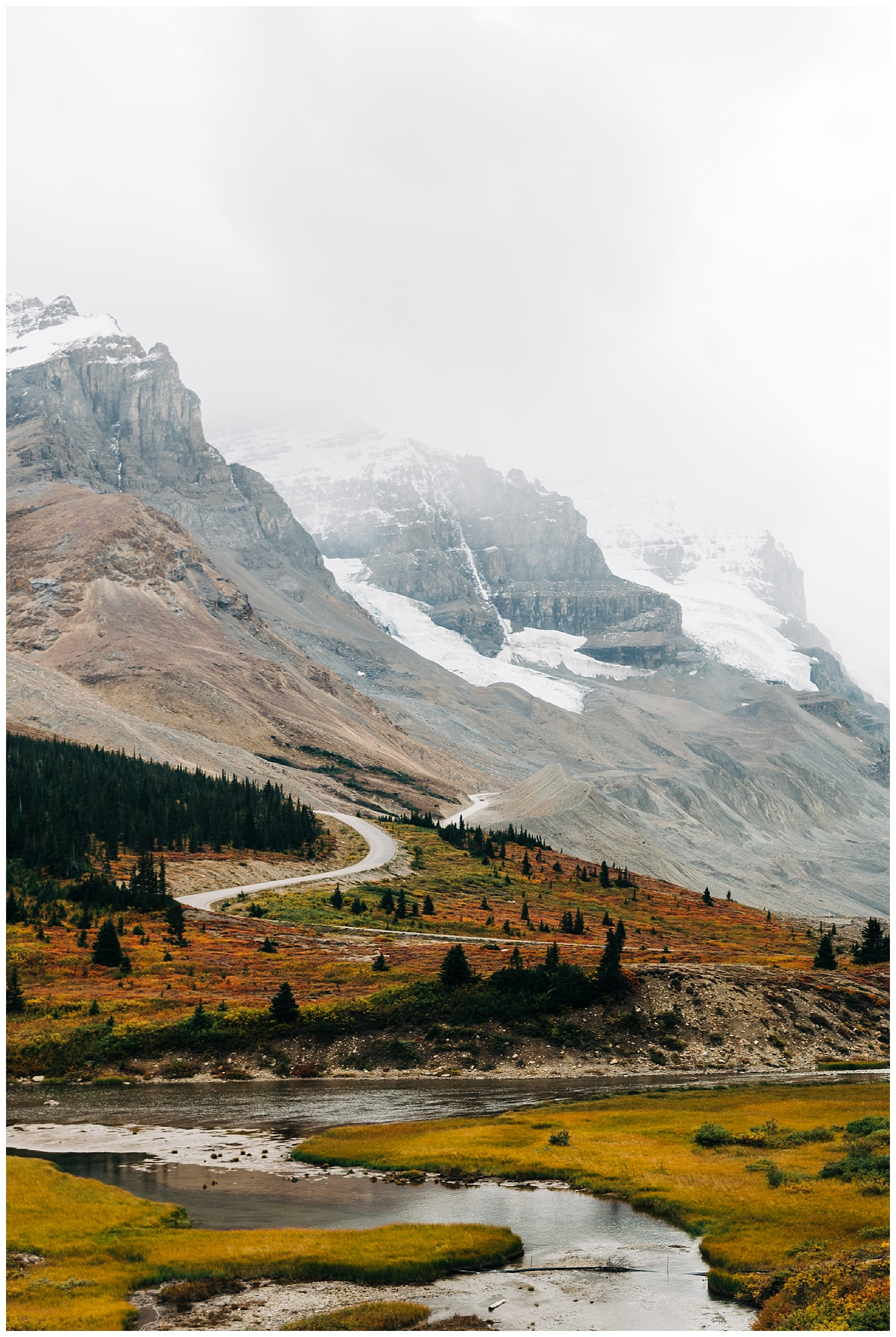 Columbia Icefields in Jasper National Park by Forthright Photo, adventurous wedding photographers