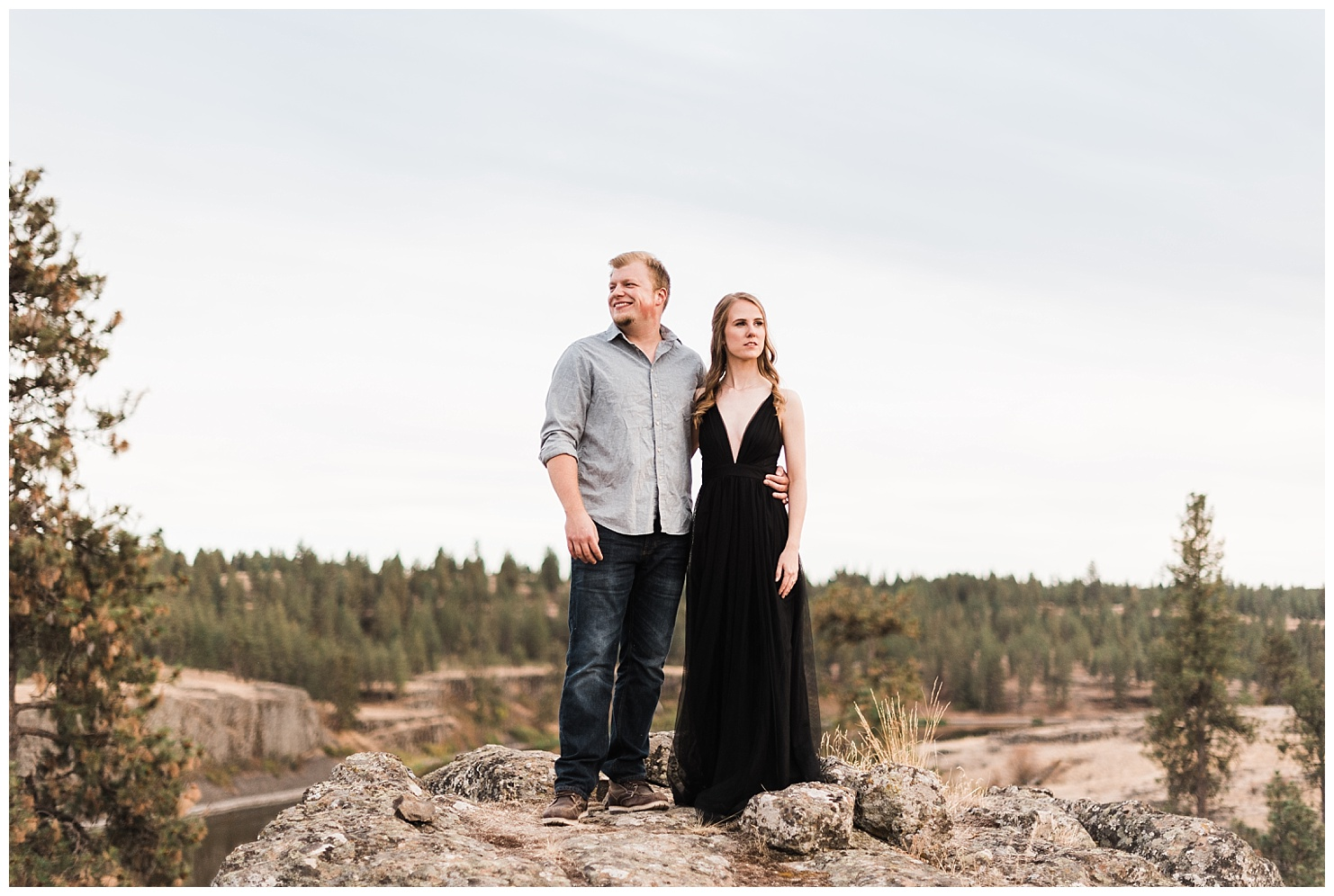 Hog Lake Engagement session by Spokane Wedding Photographers Forthright Photo