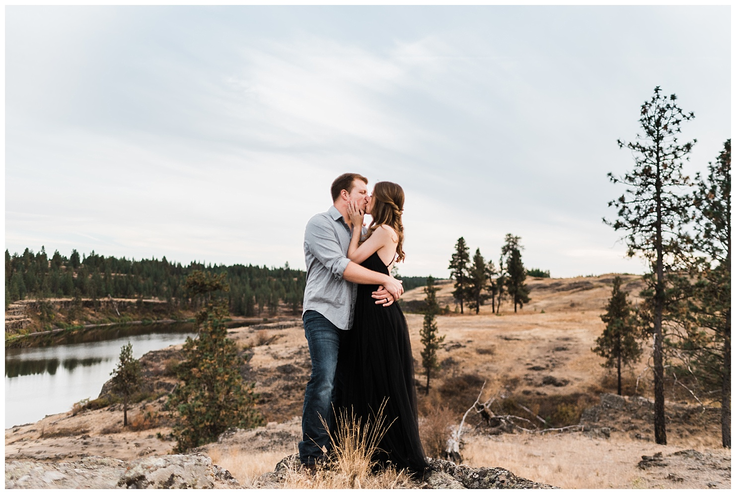 Hog Lake Engagement Session by Washington Adventure Engagement Photographers - Forthright Photo