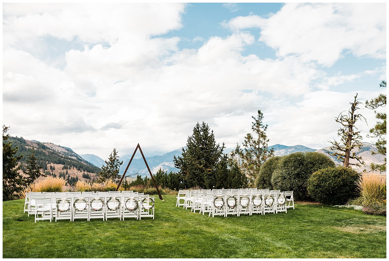 Sun Mountain Lodge Wedding Ceremony by Forthright Photo