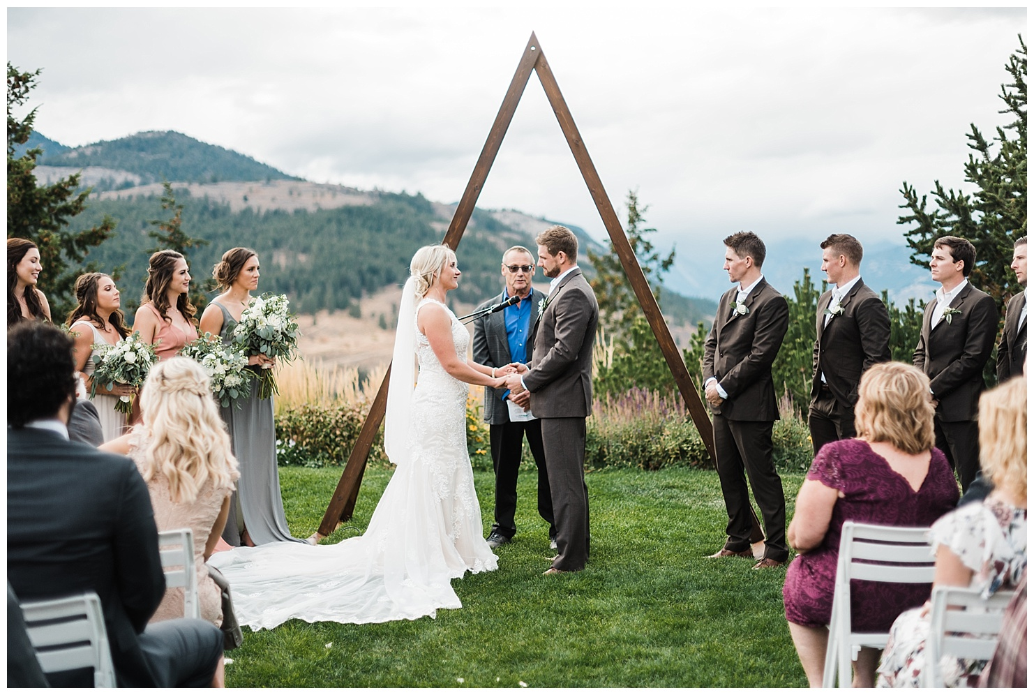 Ceremony site at Sun Mountain Lodge in Winthrop, WA