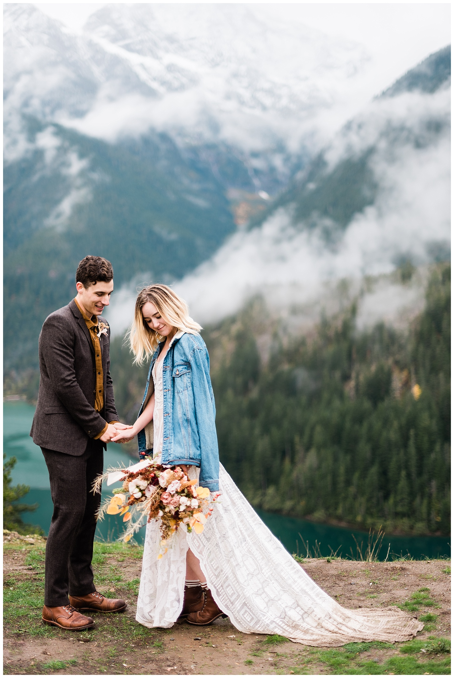 Diablo Lake, North Cascades Elopement by Forthright Photo, pnw elopement photographers