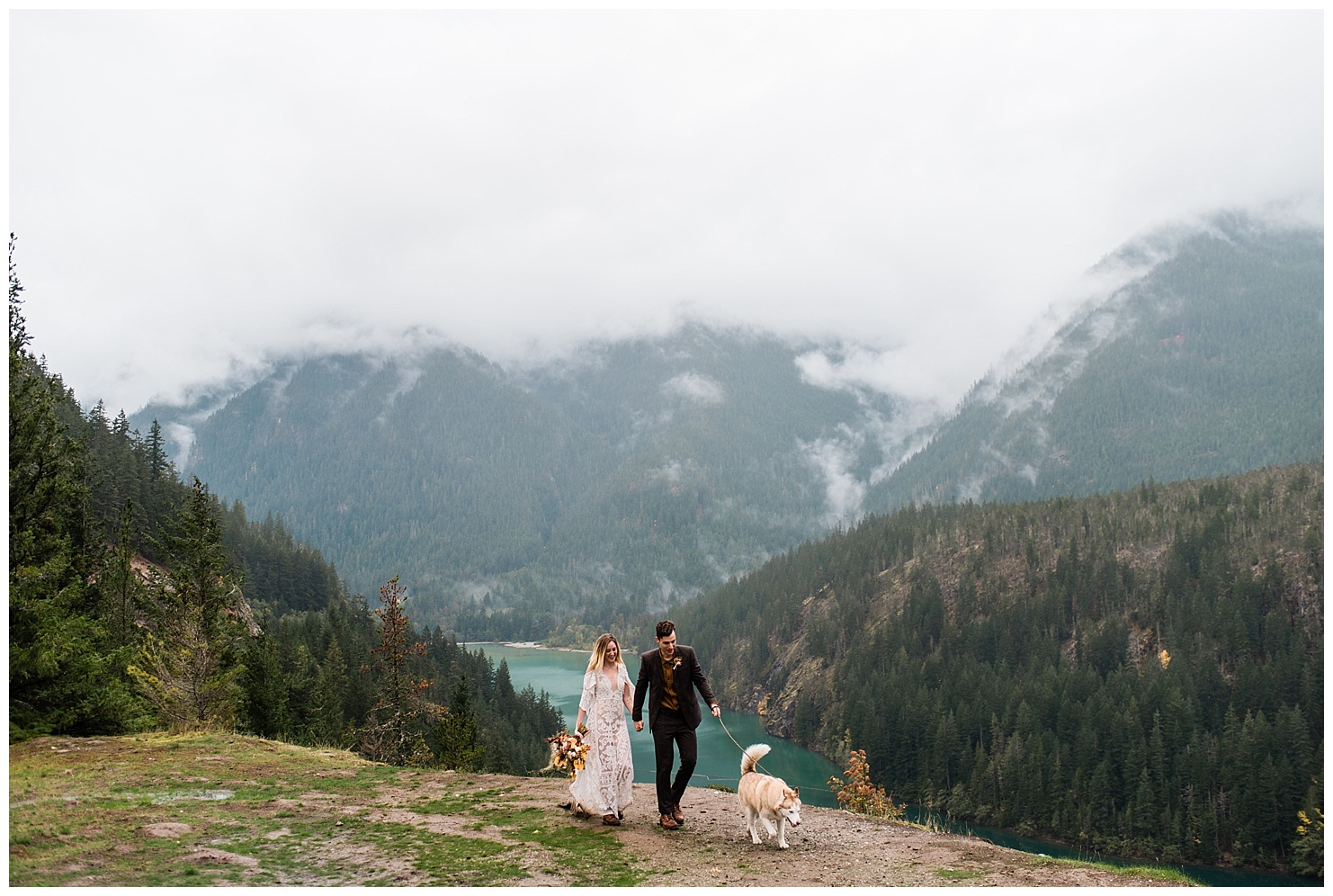 Diablo Lake, North Cascades Elopement by Forthright Photo, pnw elopement photographers, adventurous pnw photographers