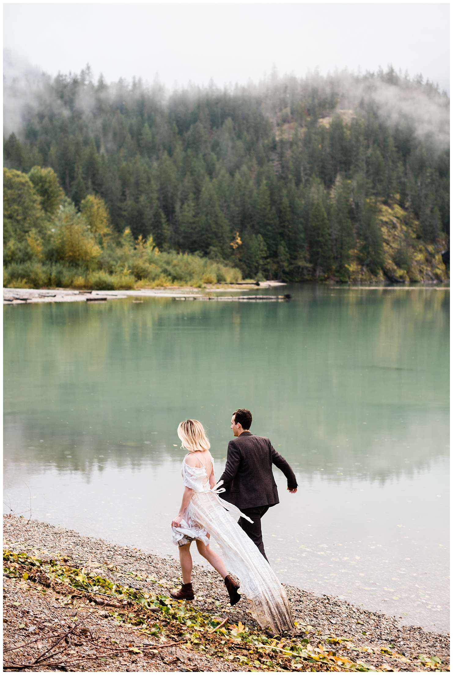 Diablo Lake Bridal Session by Forthright Photo, pnw elopement photographer
