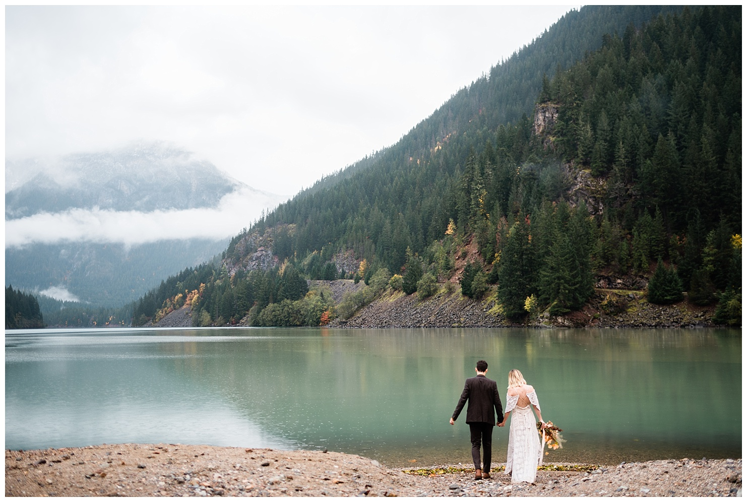 Diablo Lake Bridal Session by Forthright Photo, washington wedding photographers