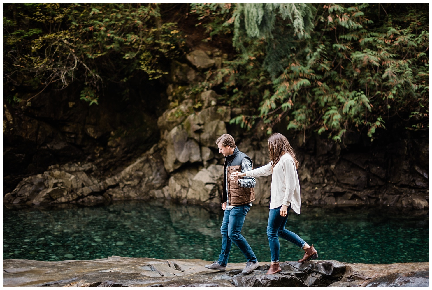 PNW Engagement Photo at Golden Ears Provincial Park, British Columbia by Forthright Photo
