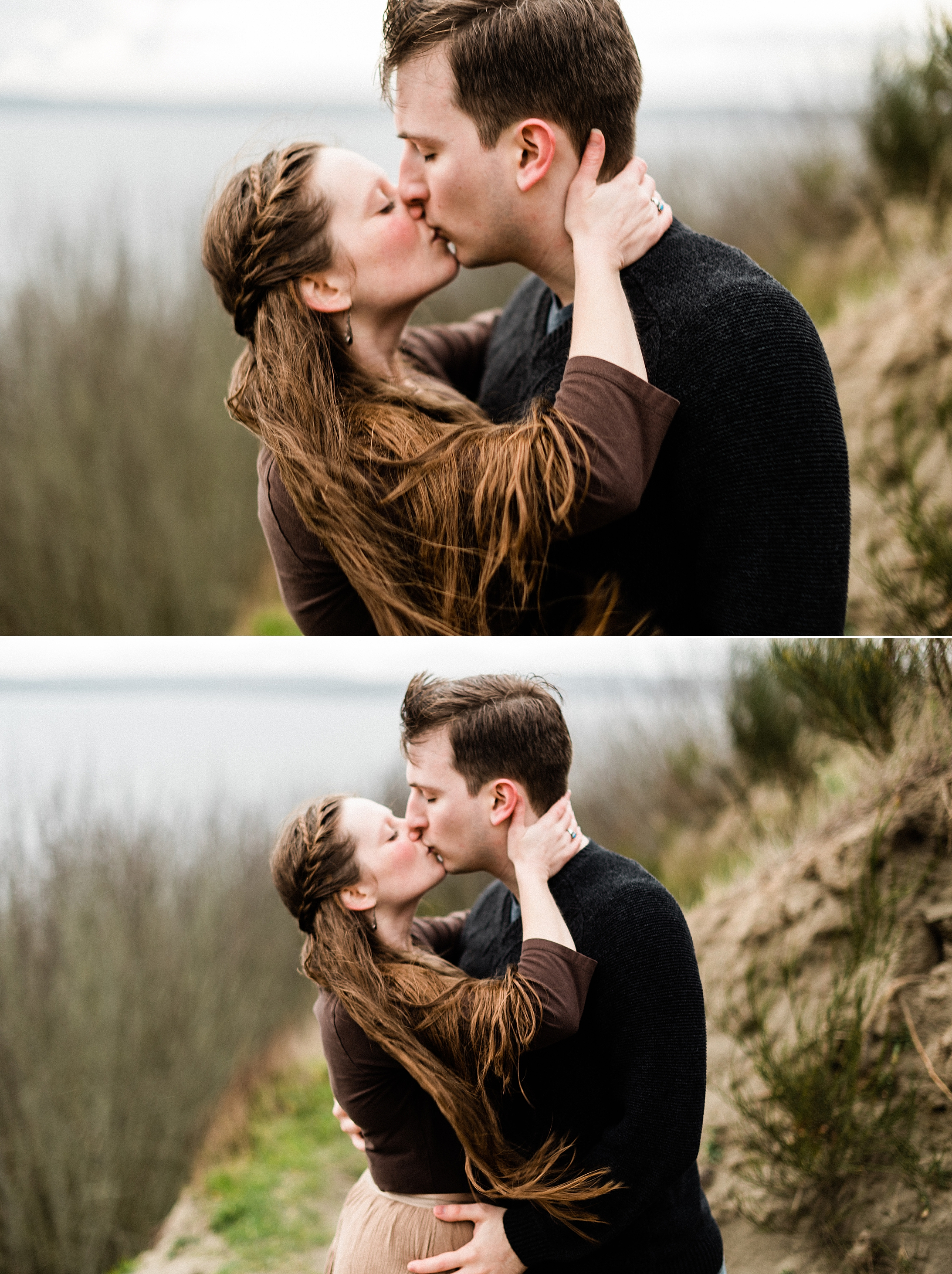 Discovery Park, Seattle Winter Engagement Session by Forthright Photo