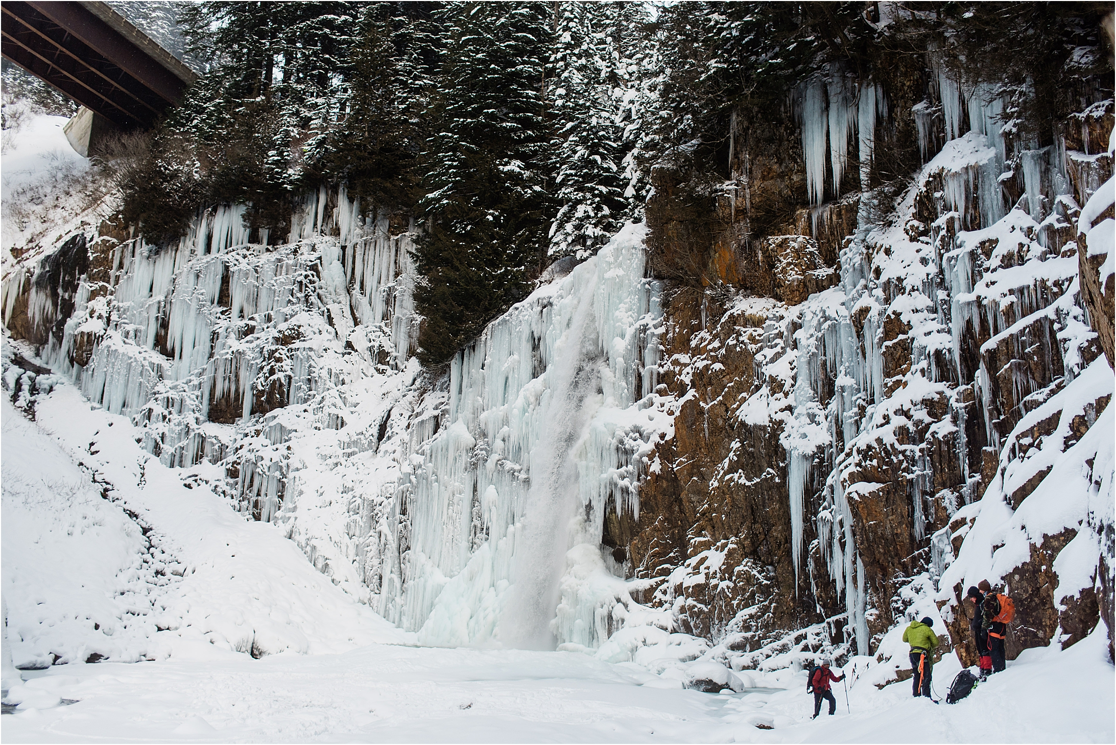 Winter at Franklin Falls by Forthright Photo, PNW and Snoqualmie Pass Wedding Photographers