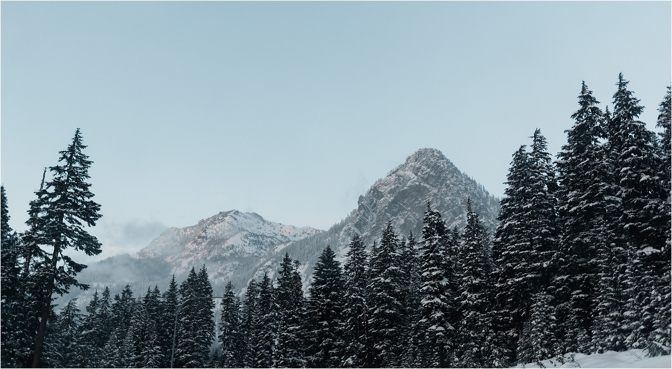 Mountains in Snoqualmie Pass by Forthright Photo, Seattle Wedding Photographers