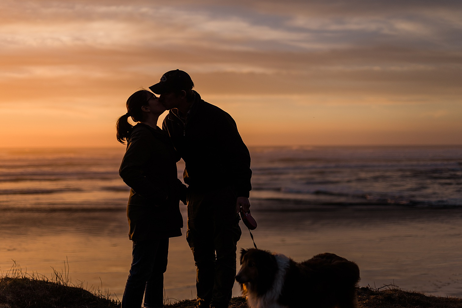 Oregon Coast Elopement Locations & Inspiration - Sunset at Cape Lookout State Park. Image by Forthright Photo