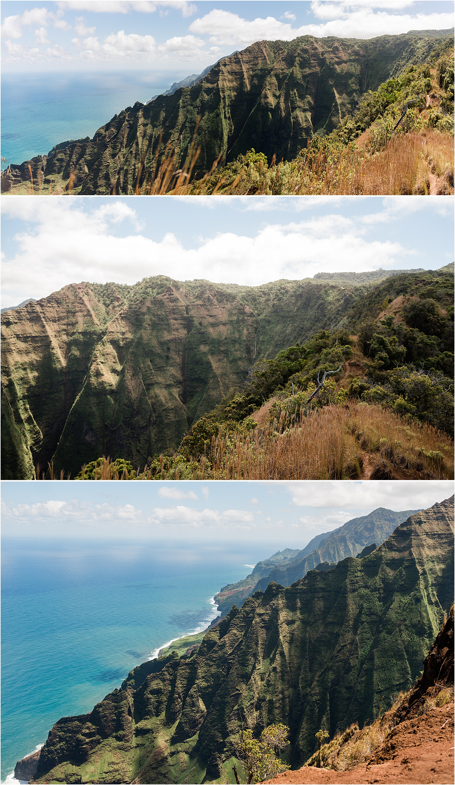 Views from the top of Honopu Ridge. Image by Forthright Photo, Kauai Adventure Wedding Photographers