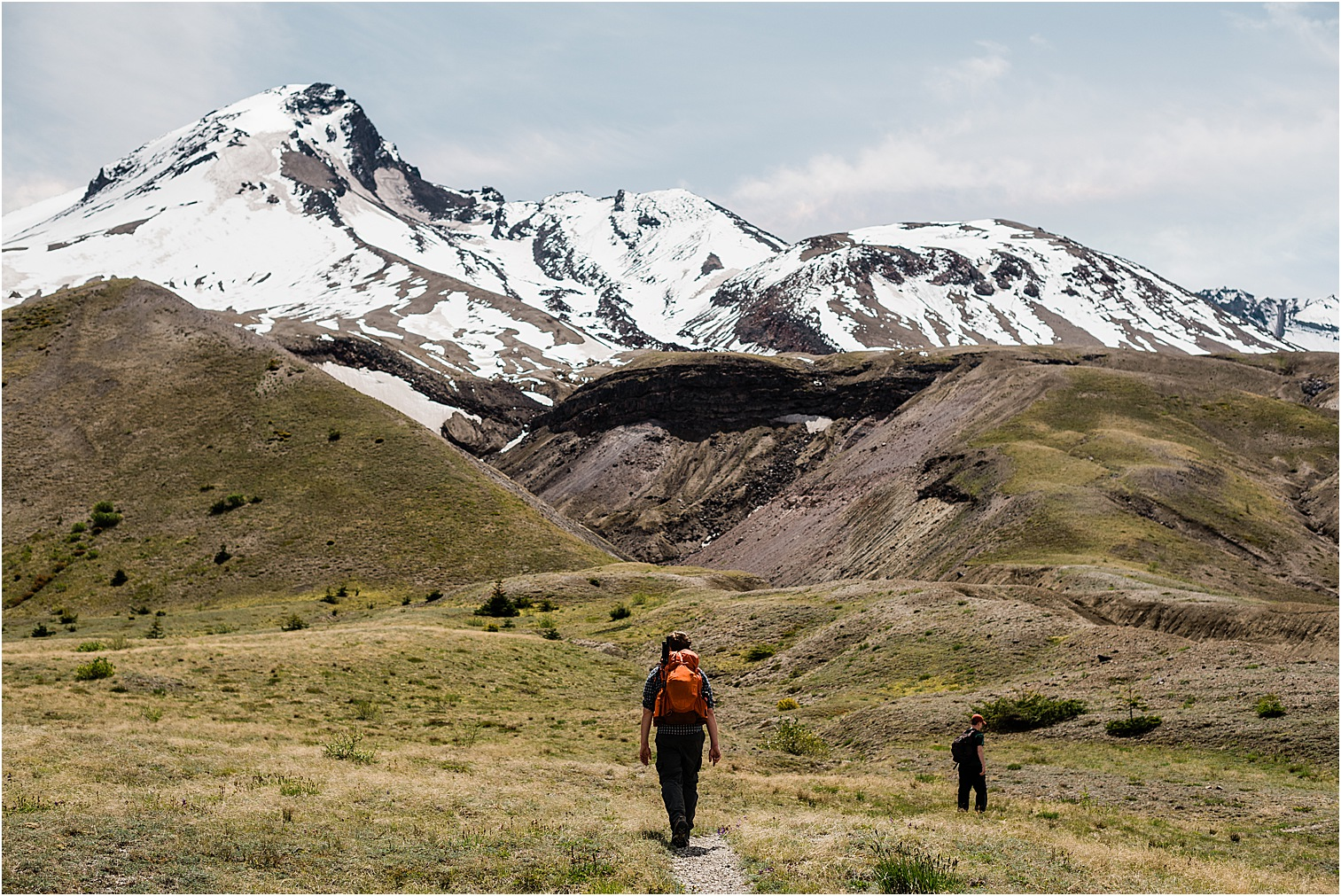 A hike through the alpine meadows of Mt St Helens. Image by Forthright Photo