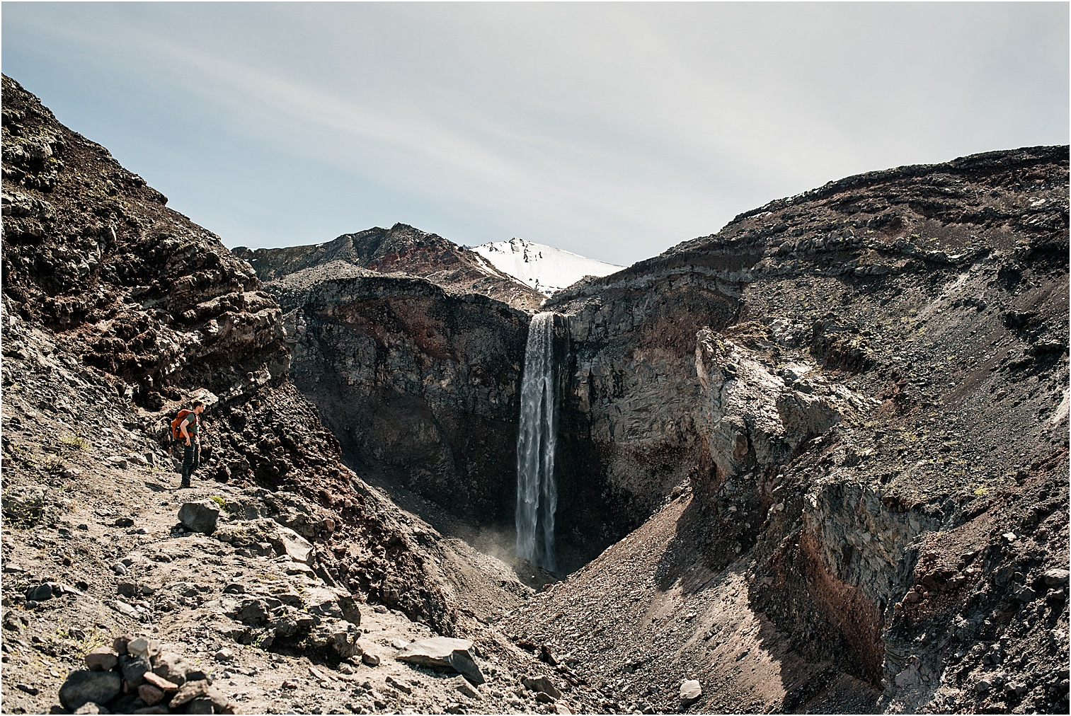 Large Waterfall in Mt St Helens. Image by Forthright Photo