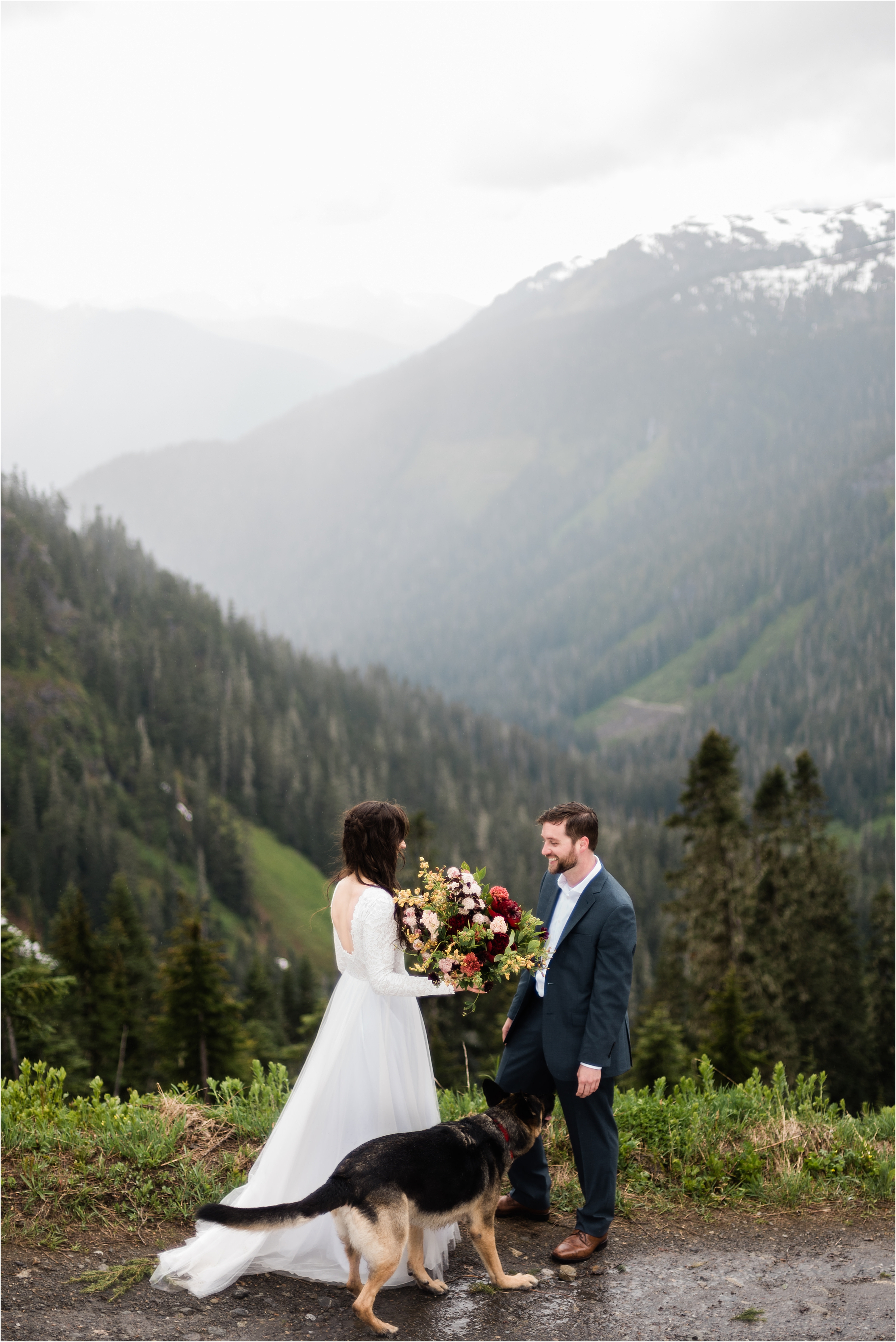 First look at Christina & Tanner's elopement on the slopes of Mt. Baker. Image by Forthright Photo, Seattle Elopement Photographers