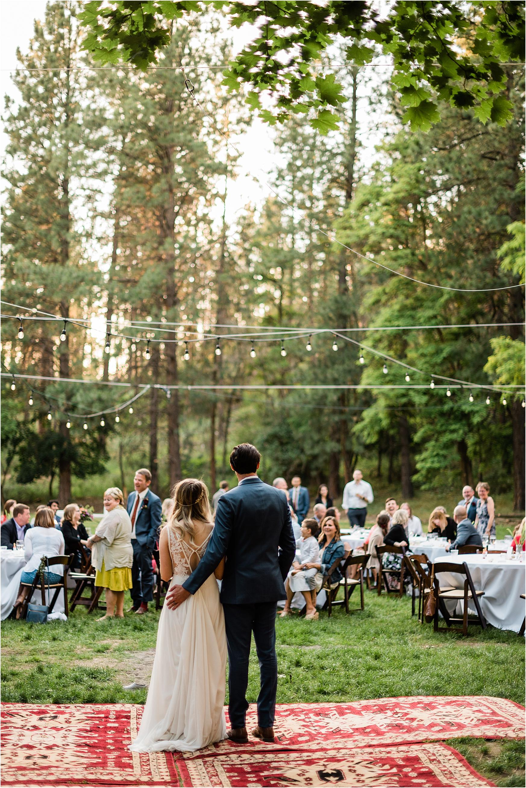 Woodsy Reception at Zephyr Lodge Wedding.