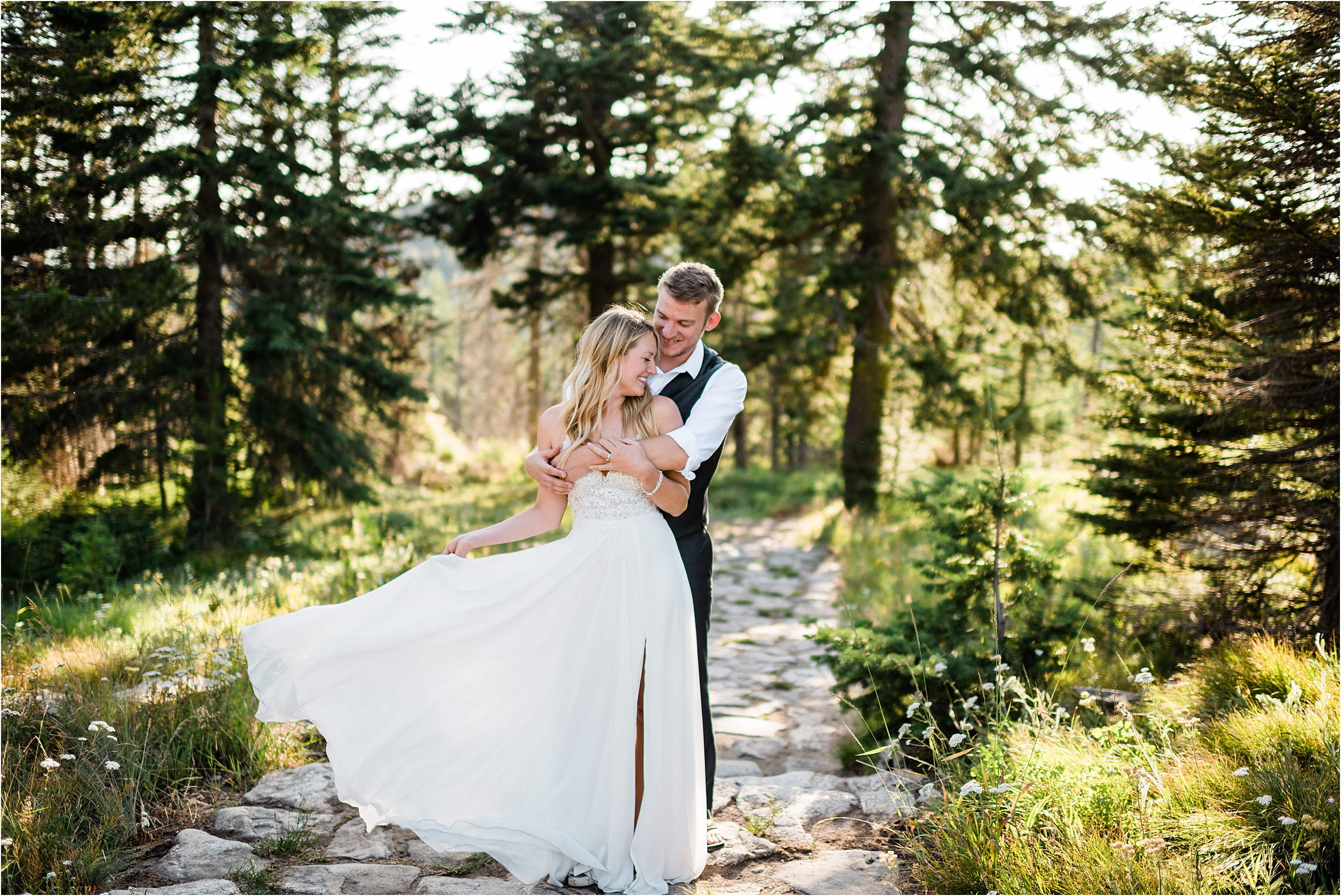 Alena & Jayden's Mt Spokane Adventure Wedding. Image by Forthright Photo.