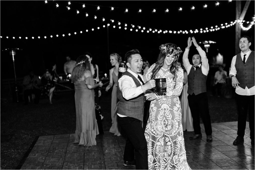 Cassy & Viva dancing the night away after their wedding in Oregon.