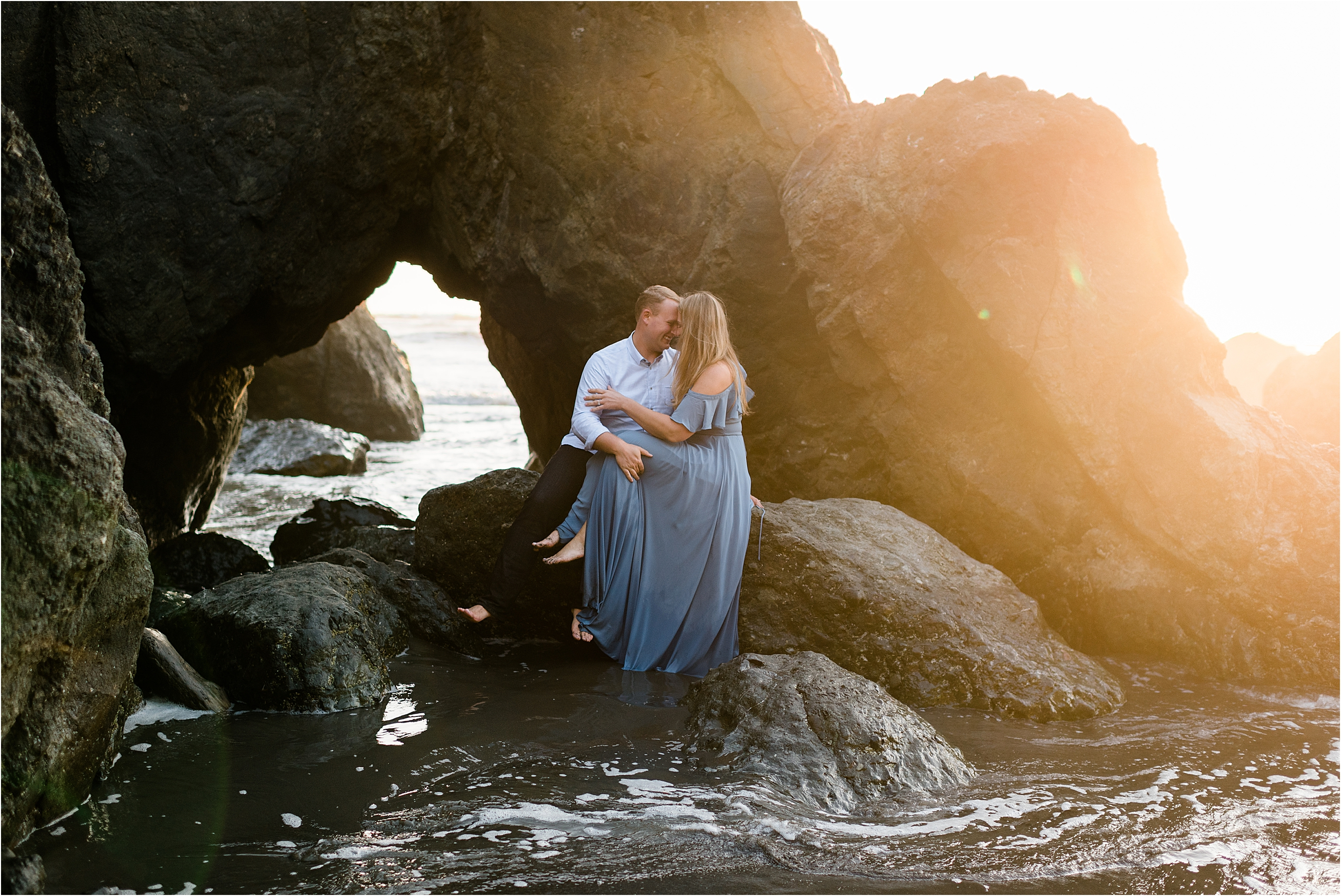 Jenny & Sam's Ruby Beach Engagement by Forthright Photo, Seattle Wedding & Elopement Photographers.