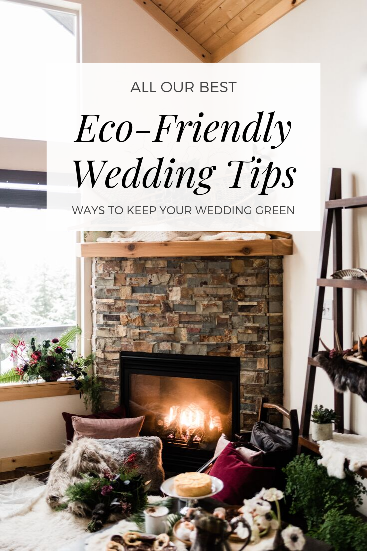 Eco-Friendly Wedding Tips: Ways to Keep Your Wedding Green Infographic. Image by Forthright Photo.