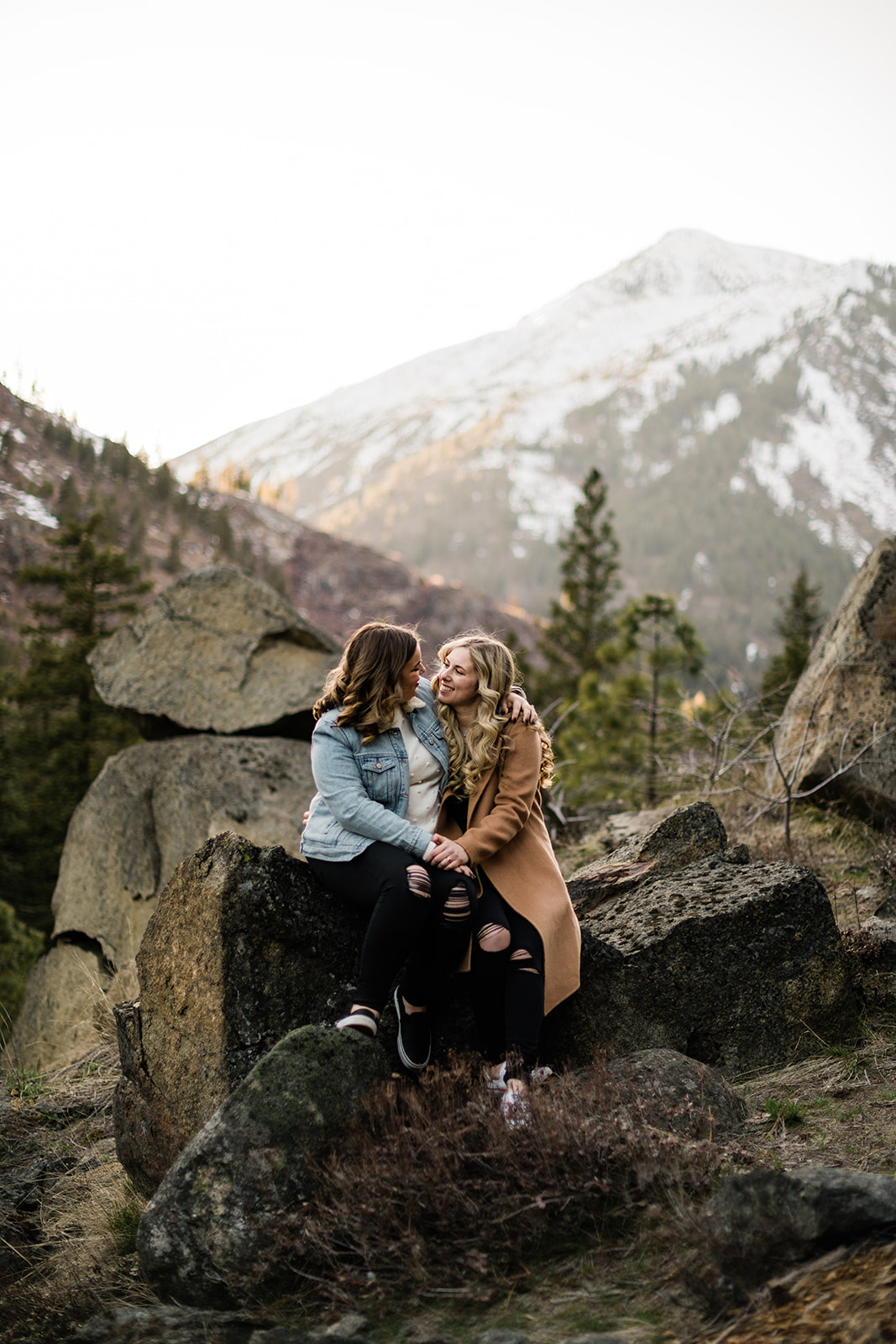 LGBTQ Adventure Mountain Leavenworth Engagement Session - Courtney and Taylor. Forthright Photo - Seattle Wedding & Elopement Adventure Photographers